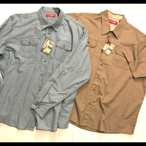 Wrangler Button Up Shirts. 2 Total.  Both 2XL